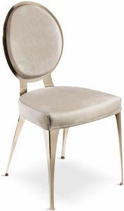 Miss sedia schienale imbottito, Sedia moderna con schienale tondo imbottito