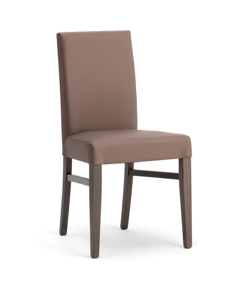 Elegante sedia imbottita per sala da pranzo | IDFdesign