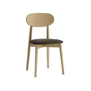 371, Sedia legno, seduta imbottita