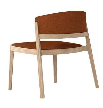 Abuela Lounge Wood, Sedia lounge in legno di faggio