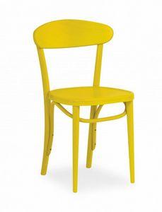 B11, Sedia in legno dal design semplice