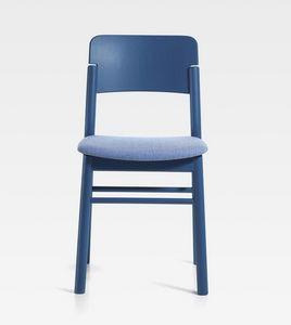 Pop, Sedia in legno con seduta imbottita