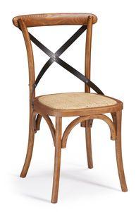 SE 431/M1, Sedia in legno con croce in ferro