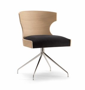 XIE SIDE CHAIR 052 S Z, Sedia con base a ragno