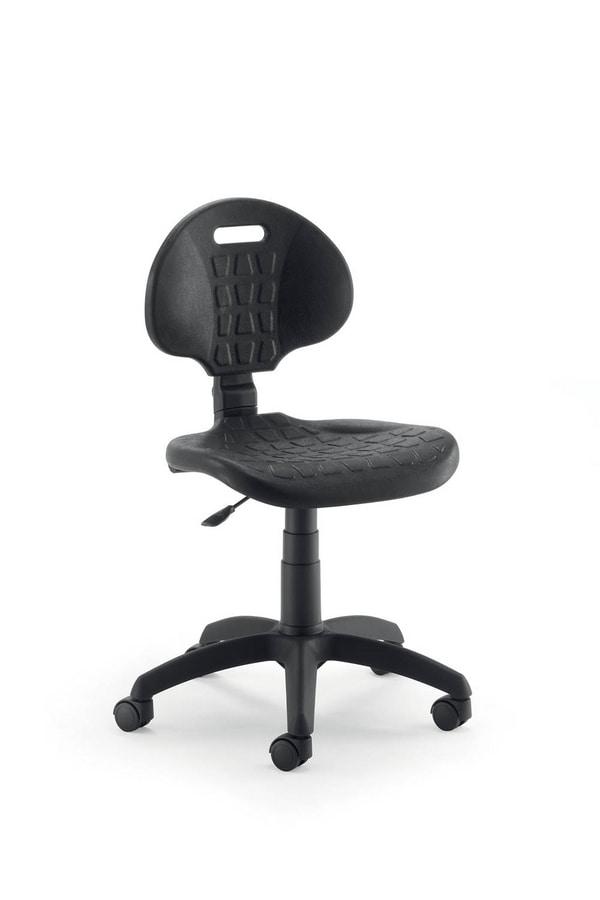 UF 426, Sedia operativa con seduta e schienale in poliuretano