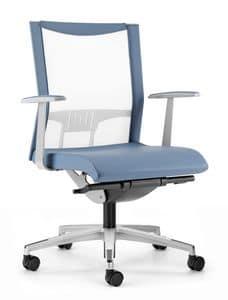 AVIANET 3602, Sedia con schienale in maglia elasticizzata, per uffici