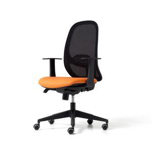 Hop, Sedia operativa ufficio, con schienale in rete