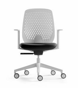 Key Smart, Sedia ufficio con schienale ergonomico microforato