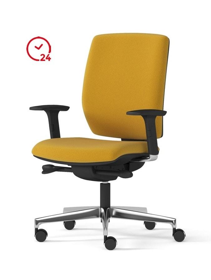 Sedia operativa con ruote per ufficio | IDFdesign