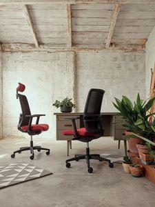 Omnia 01 PT, Sedia operative ufficio con poggiatesta