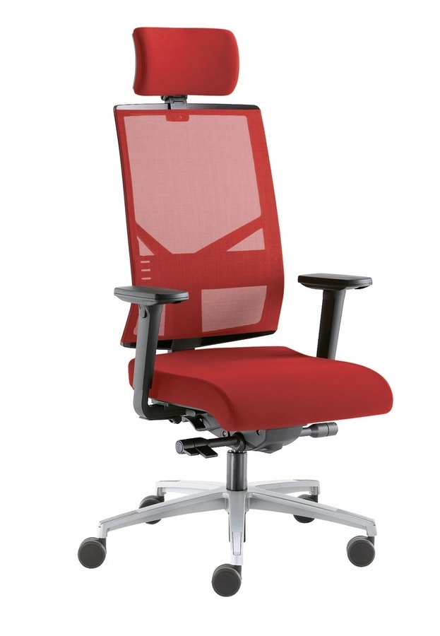 Sax Rete, Sedia per ufficio con schienale in rete