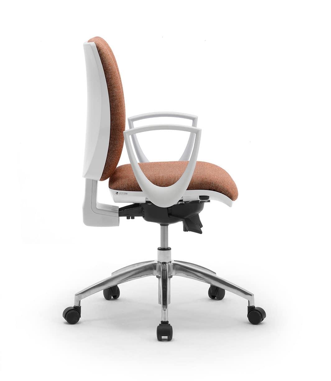Sprint W, Elegante sedia operativa per ufficio, con finitura bianca