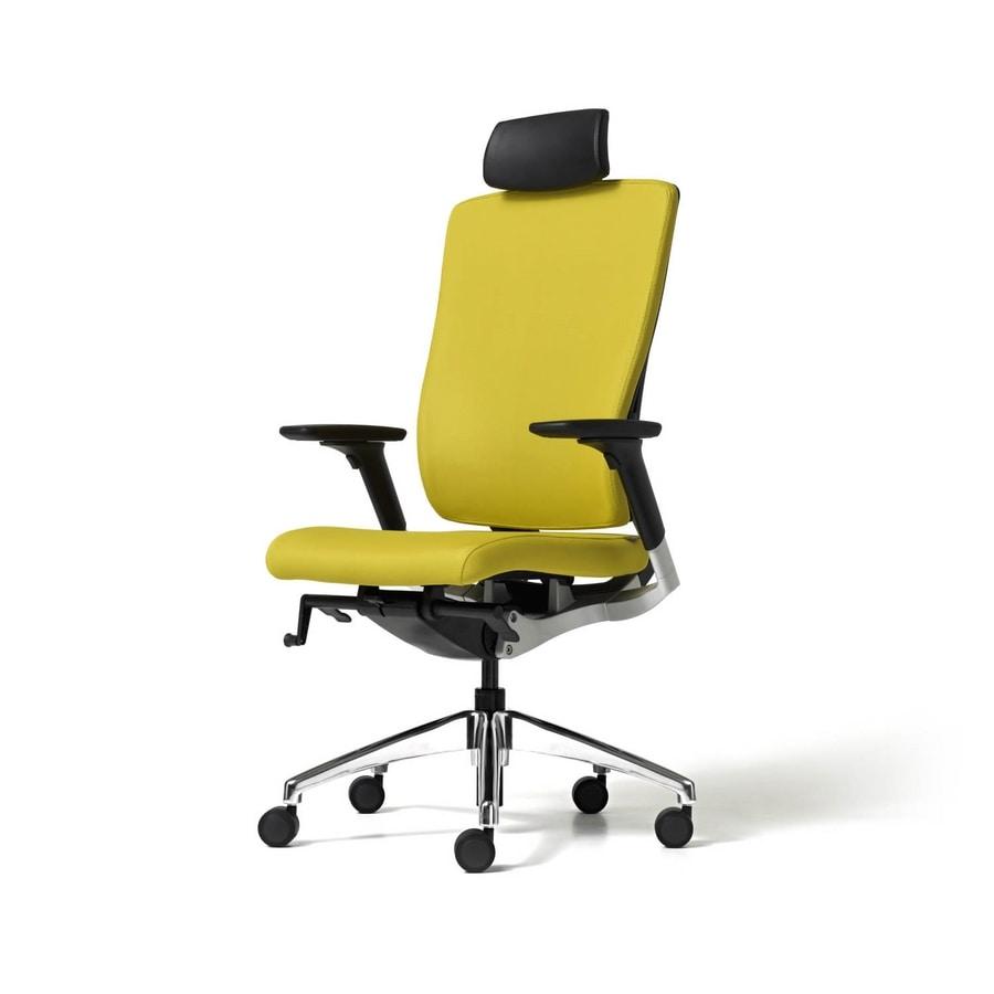 Style, Sedia direzionale, comoda, con schienale ergonomico