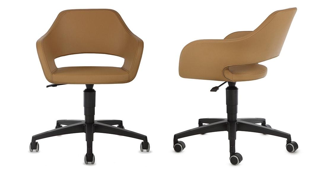 NUBIA 2205, Sedia per ufficio, con ruote