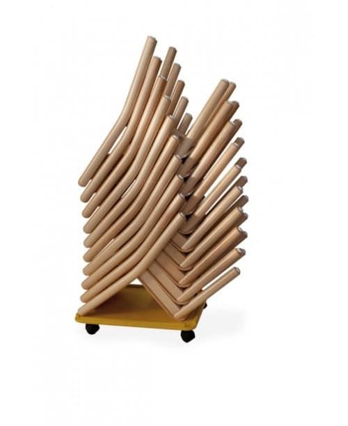 CIAO, Sedie impilabili, legno colorato, per scuola materna