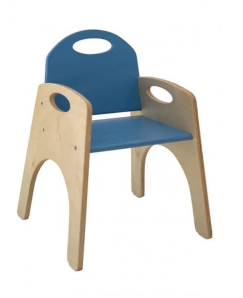 FANTALANDIA, Sedia con braccioli per bimbi, impilabile, per aree gioco e cameretta