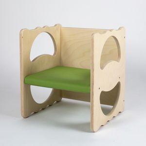 VANITY/I, Sedia pluriuso, in legno, impilabile