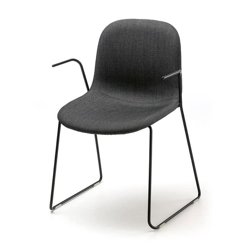 Mani AR-SL, Sedia impilabile per convegni, in tondino d'acciaio