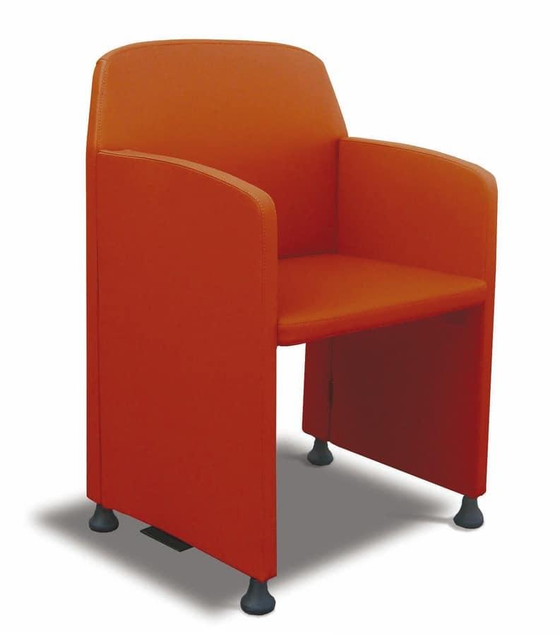 Meeting, Sedia di dimensioni contenute per sale meeting