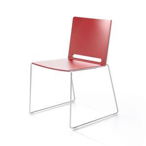 Multi, Sedia in metallo e plastica, impilabile, per congresso