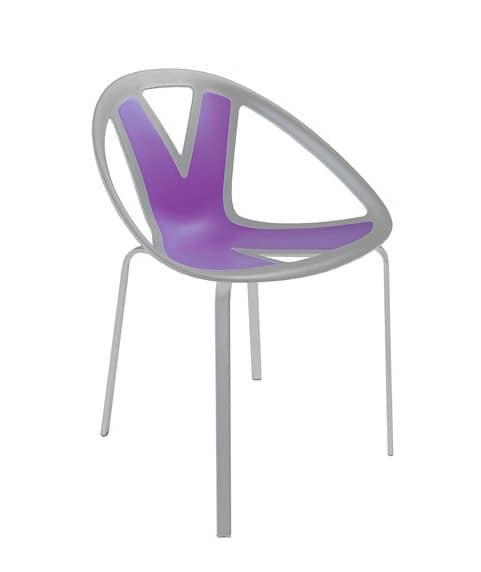 Extreme cod. 84, Sedia con seduta in materiale plastico, per esterni