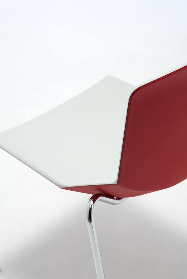 Formula tech 4L, Sedia impilabile, scocca in poliuretano colorato, adatta all'uso indoor e outdoor
