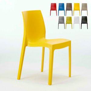 Sedia impilabile cucina bar Rome � S6217, Sedia in plastica, economica, per interni e esterni
