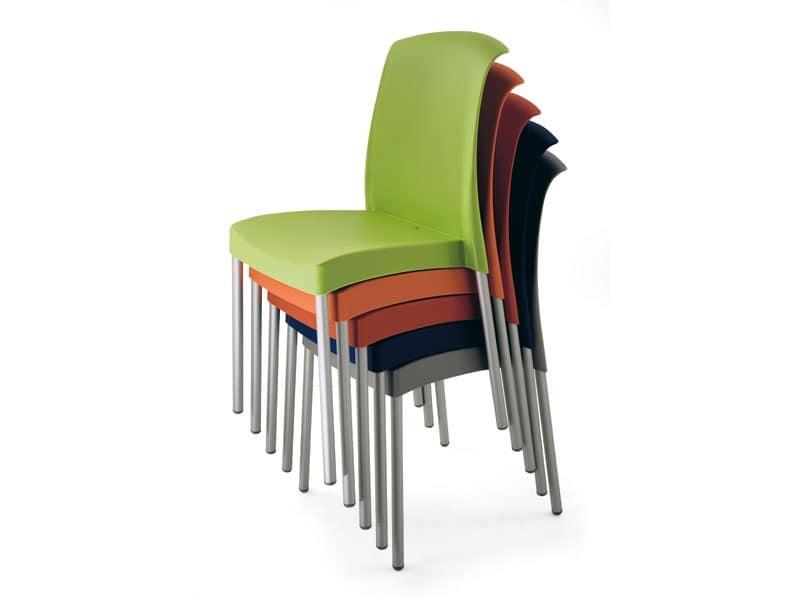 SE 2070, Sedia da giardino in alluminio e plastica, per esterno