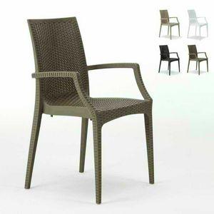 Sedia bar con braccioli esterno giardino � S6625, Sedia con braccioli, impilabile, economica, per bar
