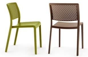 Tara - S, Sedia da giardino in plastica senza braccioli, impilabile