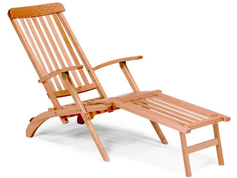 Chaise longue, Sdraio in legno da giardino