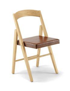 JL 11 sedia, Sedia pieghevole outlet, in legno