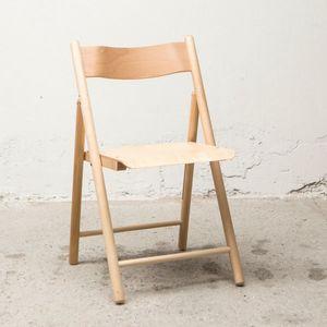 Sedia 184, Sedia pieghevole outlet, in legno