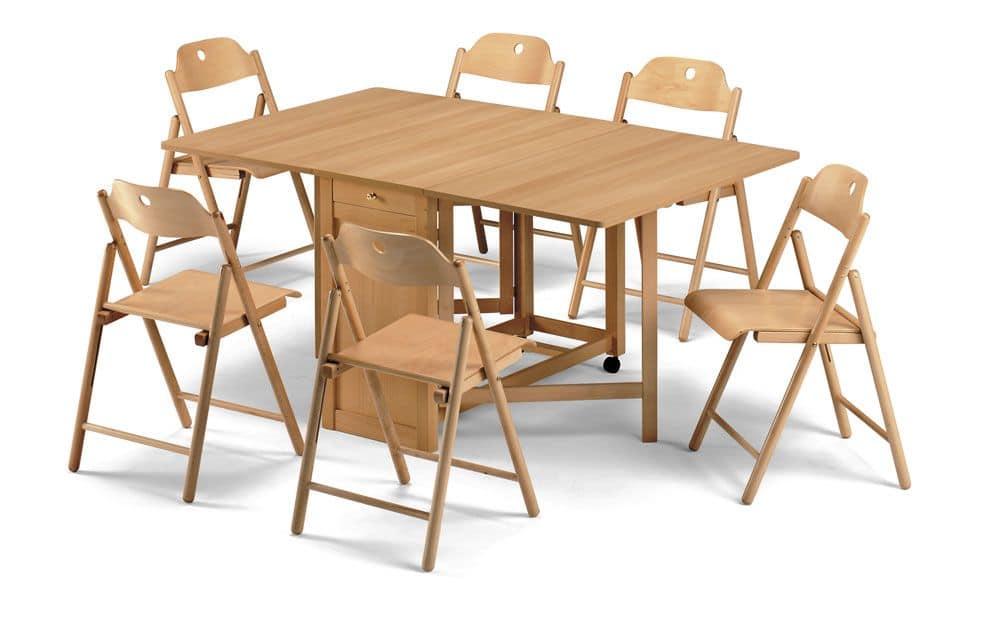 Stoppino, Sedie in legno, pieghevole, per uso contract
