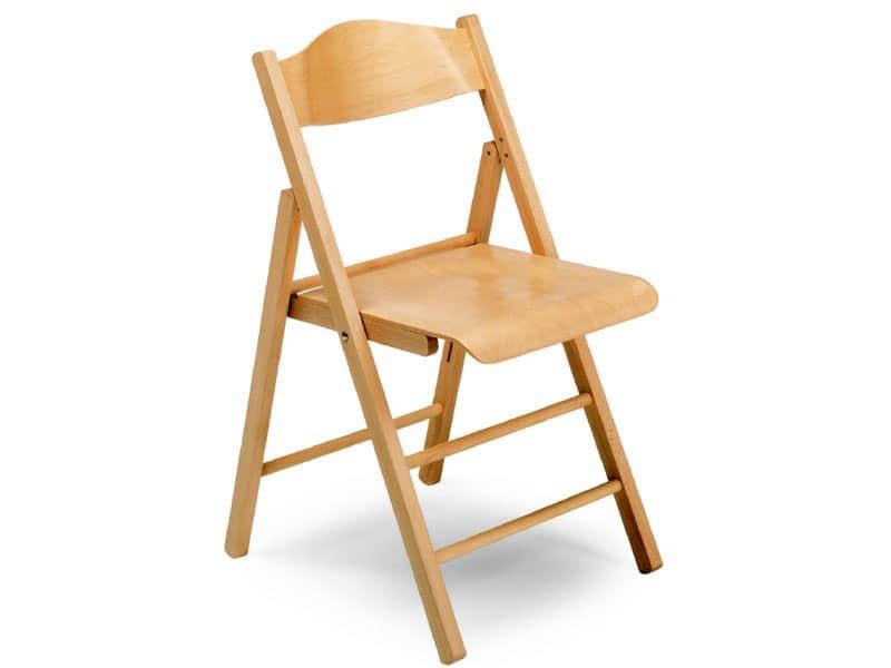 Ugo bis, Sedie in legno, pieghevole, per conferenze ed eventi