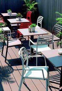 9675 Costa, Sedia in plastica per bar all'aperto