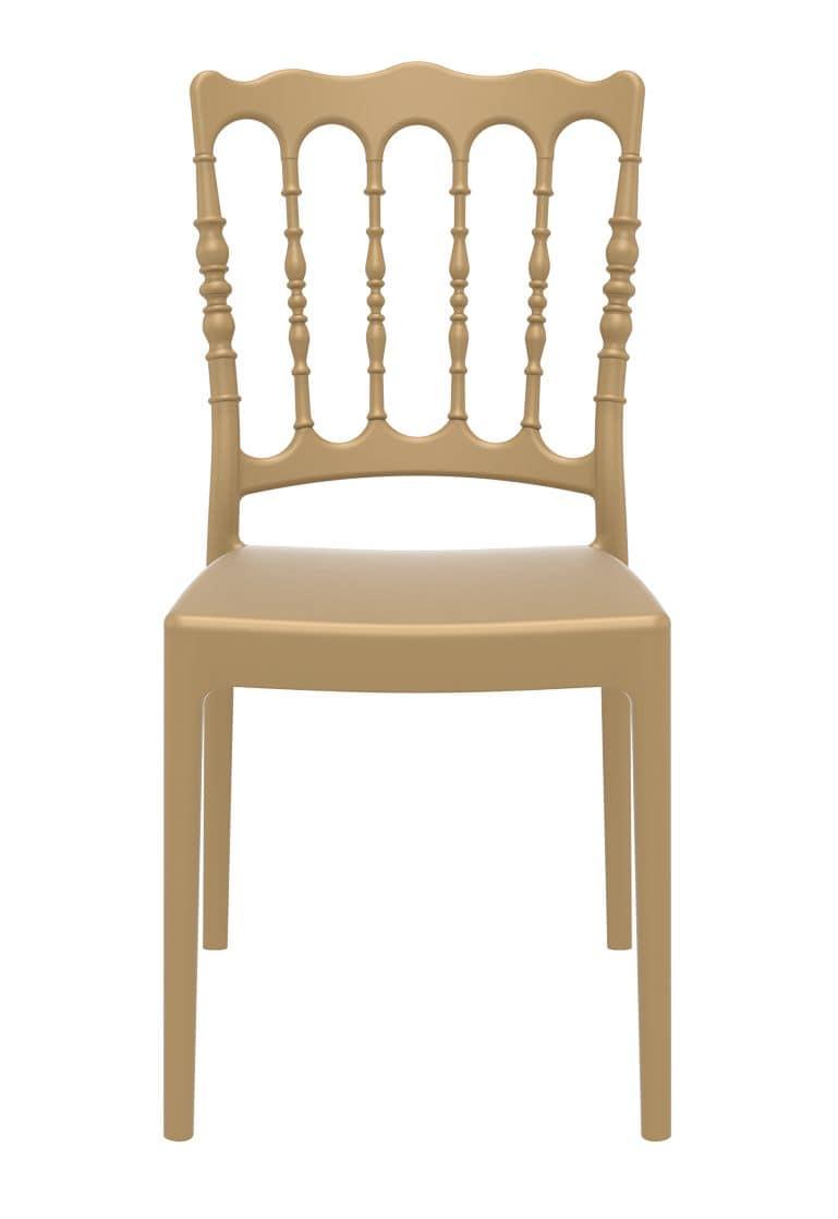 Impero, Resistente sedia in polipropilene, impilabile, per catering