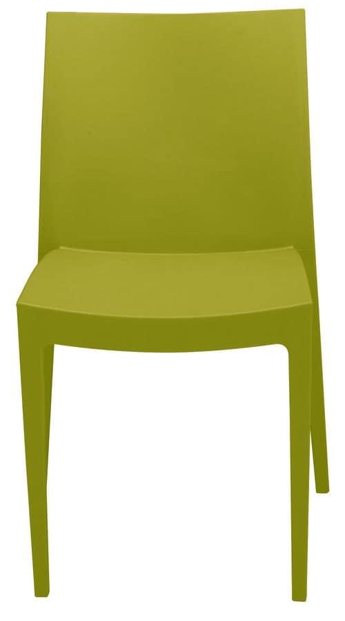 SE 6224, Sedia in plastica di vari colori, per esterni e bar