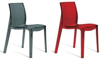 SE 6317, Sedia in plastica da interno e esterno, per ristorante