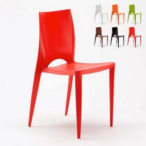 Sedia Colorata Design Moderno Cucina Bar Ristorante Giardino Color SC605PP, Sedia in polipropilene di alta qualit�
