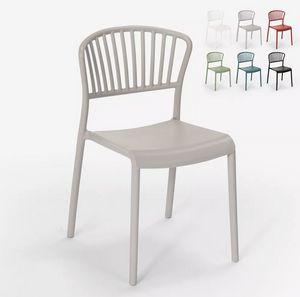 Sedia design moderno in polipropilene per cucina bar ristorante esterno Vivienne SC781, Sedia in polipropilene per uso interno ed esterno