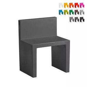 Sedia design moderno Slide Angolo Retto per casa locali e giardino SD AGR050, Sedia da esterno in plastica