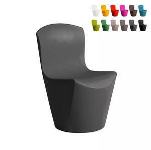 Sedia design moderno Slide Zoe per cucina bar ristorante e giardino SD ZOE080, Sedia in polietilene per indoor ed outdoor