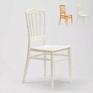 Sedia in Polipropilene per Cucine Giardino Bar e Ristoranti Napoleon III RAI6957, Sedia impilabile