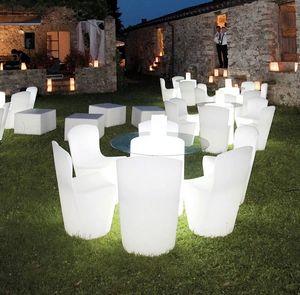 Sedia luminosa design moderno Slide Zoe Rgb per cucina bar ristorante e giardino LA ZOE080A, Sedia luminosa
