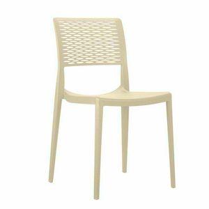 Sedie da Bar in Polipropilene per Cucina e Giardino Impilabile CROSS - SC702PP, Sedia impilabile per giardino