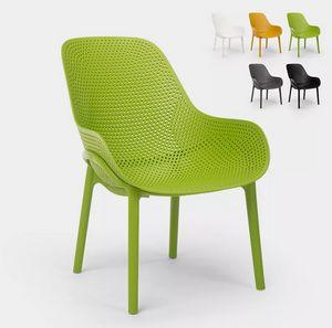 Sedie design moderno per cucina e bar in polipropilene Majestic SC756PP, Robusta sedia in polipropilene