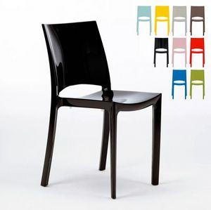 Sedie Per Cucina E Bar Lucida Grand Soleil Sunshine Design Moderno In Polipropilene S6215, Sedia cucina in polipropilene