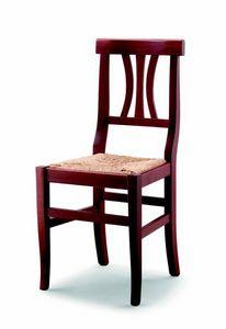 176 Fiorella, Sedia rustica con seduta in paglia