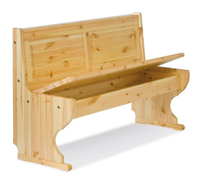 2/GNO, Panca ad angolo, in legno, stile rustico, per ristorante
